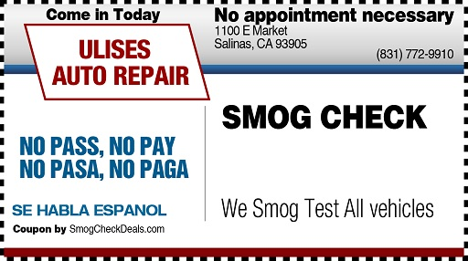 Salinas Smog-NoPass-No-Pay